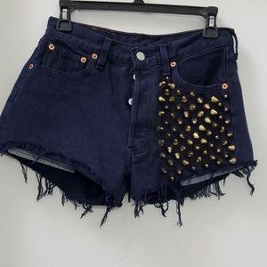 Levi's 501 Gold Stud Button Fly Shorts